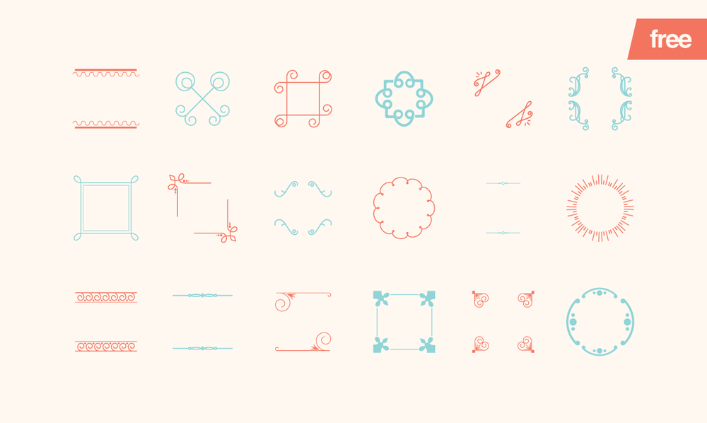Embellishments - 18 FREE Vector Shapes