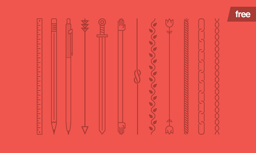 Lines 2.0 - 12 FREE Vector Line Shapes