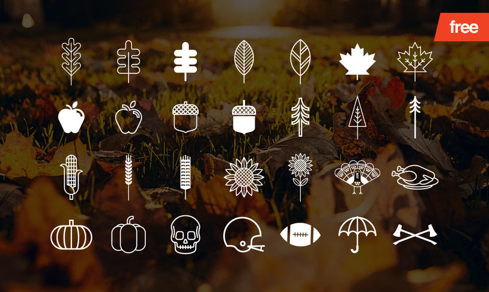 Happy Harvest - 28 Vector Icons