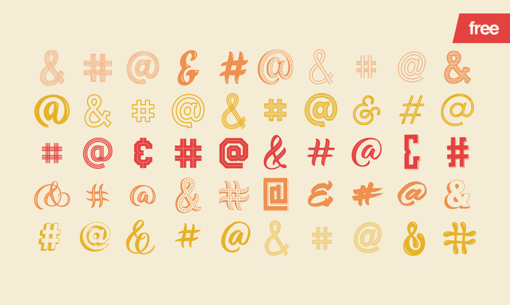 Social Type - 50 FREE vector assets