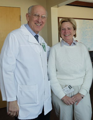 Dr. Steven Rosenberg and Linda Taylor, the first patient to be cured with immunotherapy