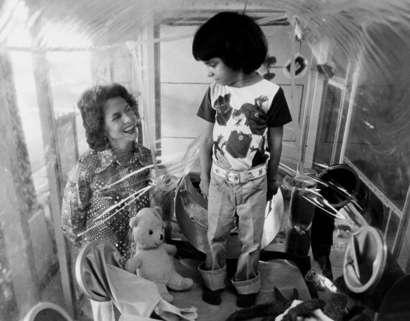 David Vetter, who sadly died at the age of 12 in 1984, was  known as the 'bubble boy', and was born with severe combined immunodeficiency.