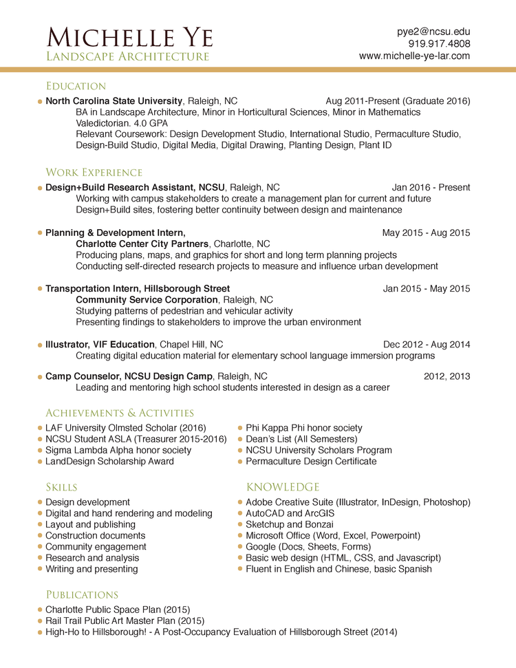 ncsu resume gallery resume format examples 2018