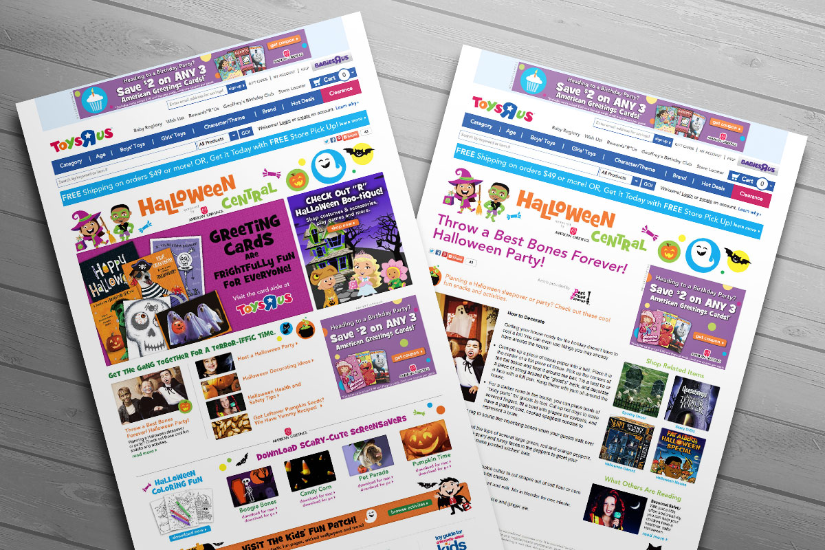 American Greetings Brand Page And Halloween Center On Toysrus Com