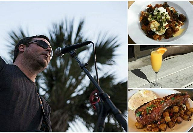 Head over to @OnFortyOne now for a one of a kind #SundayBrunch experience courtesy of Derek Cribb!  He's playing an acoustic set of everyone's favorite rock and reggae hits #liveinthebackyard til 2pm today!!