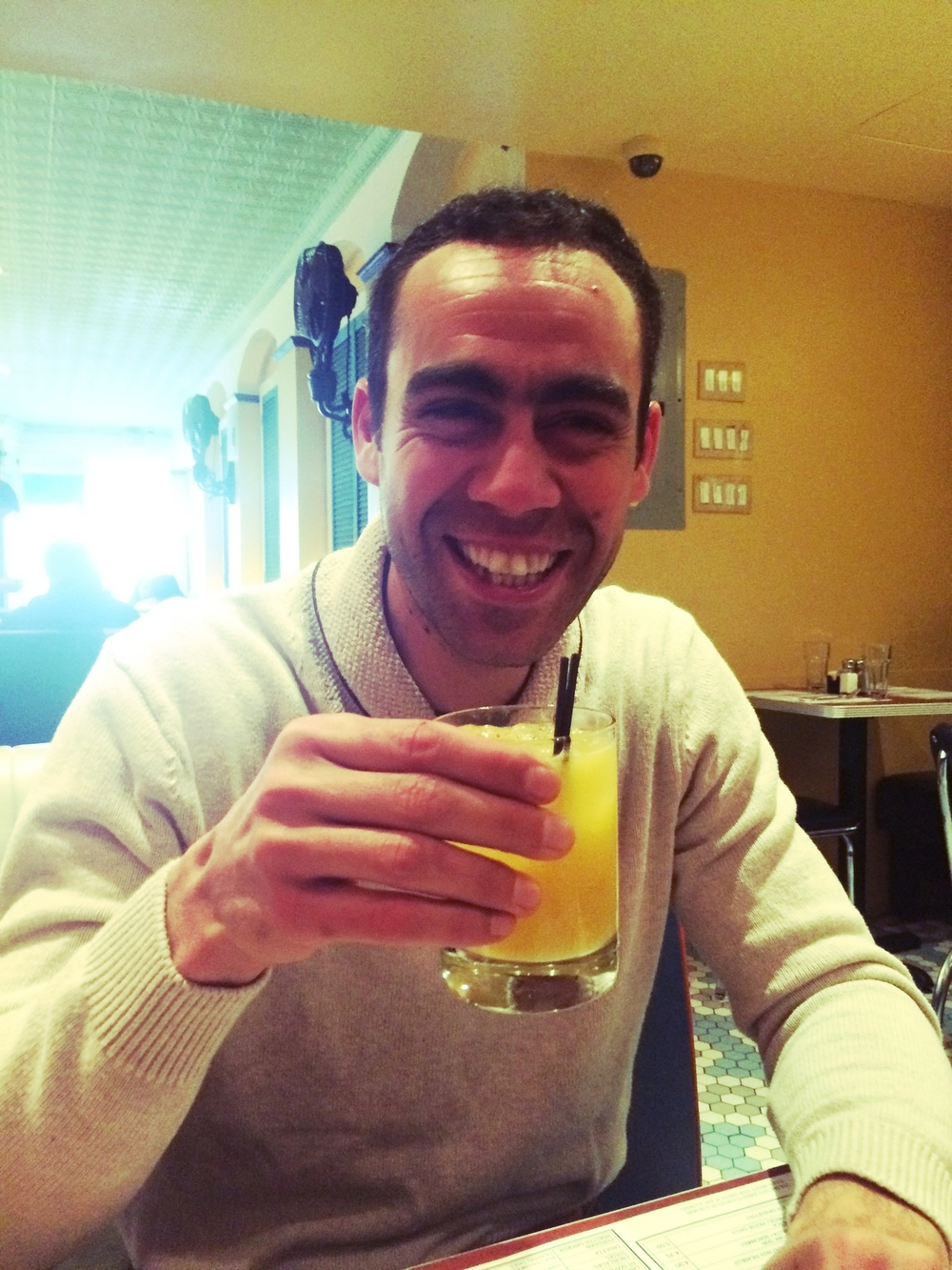 Rafo enjoying a Mango Pimenta @ Coppelia, November 2014