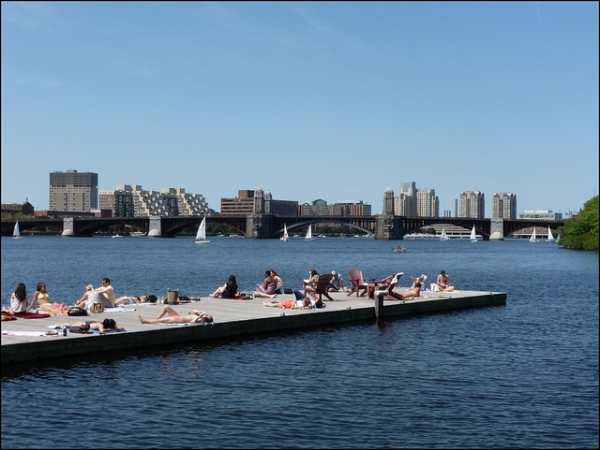 Dock along the Charles River