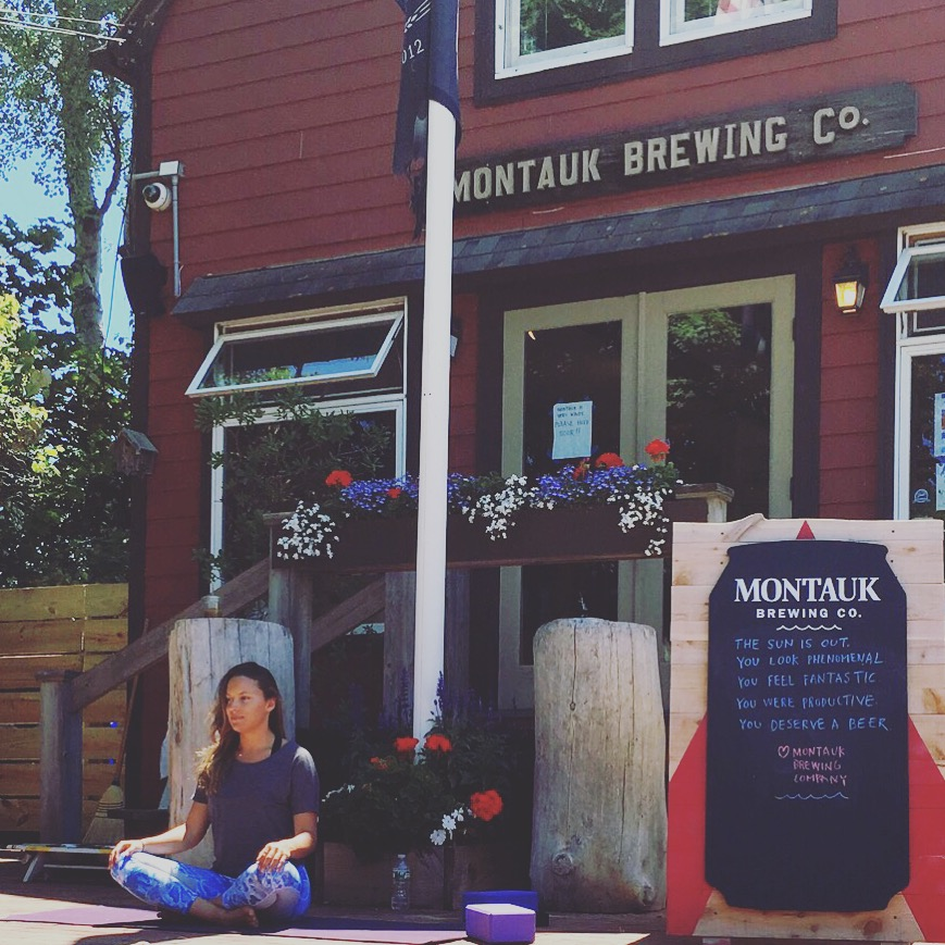 Breathe and Brew Yoga Classes at The Montauk Brewing Co.  - Students enjoyed donation based yoga classes with a free beer afterwards from our friends at the Brew Co!
