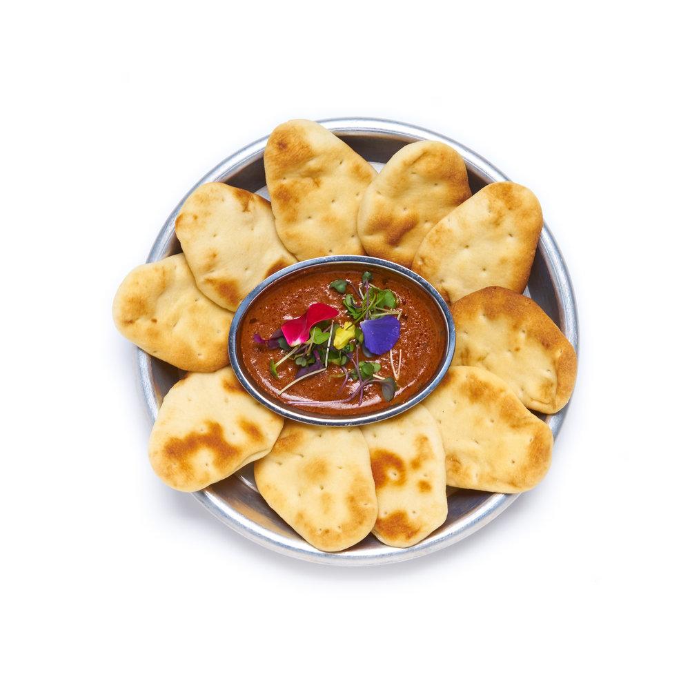 ITSY BITSY NAAN BITS lil'naan,tikka masala dipping sauce (VG)