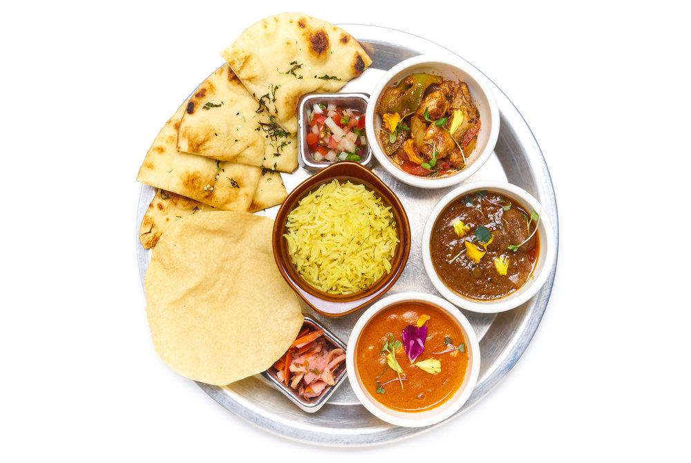 MEAT SWEATS   kashmiri lamb, ghee makhni butter chicken, kadhai chicken