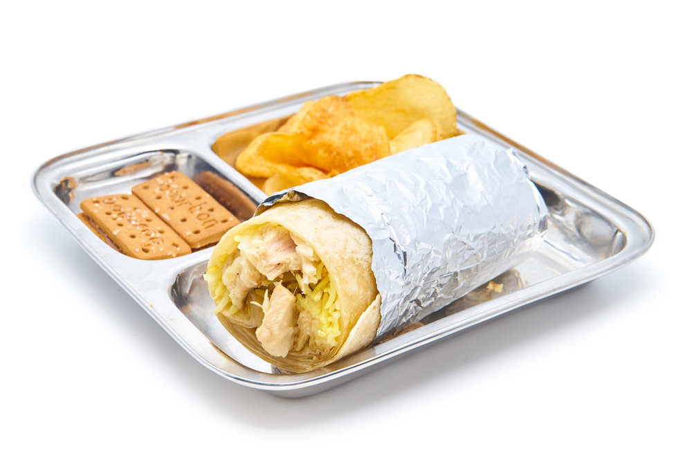 BUNTY BURRITO    chicken, paneer (VG) or aloo gobi (V)