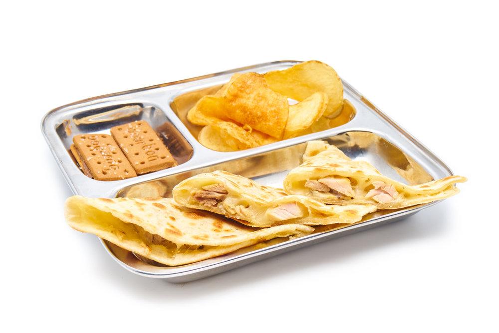 TIA'S QUESADILLA    chicken or cheese (VG)