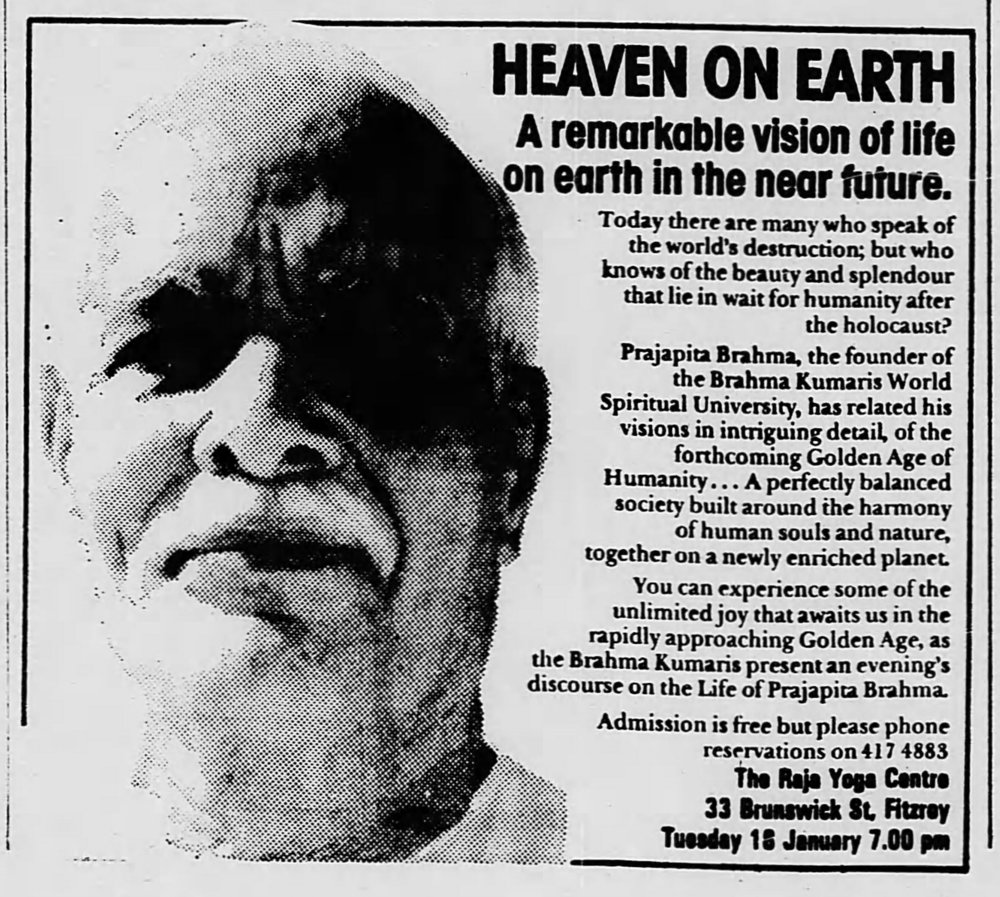 Jan 15, 1983, The Age (melbourne). past advertisements contained forthright theology and spiritual urgency
