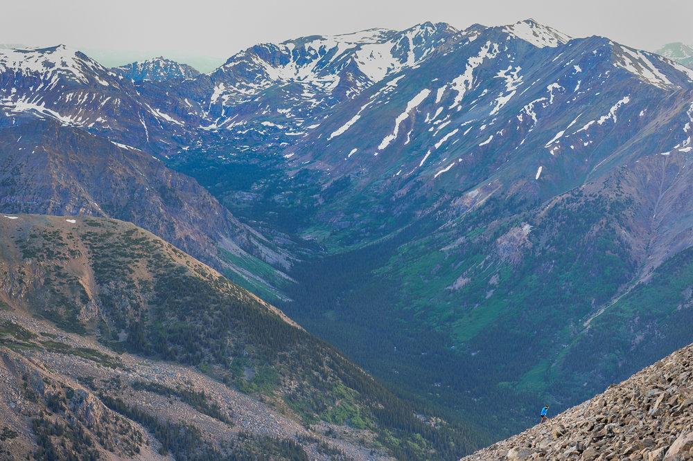 West Ridge of Mt. Elbert, June 2013. Credit: Caroline Treadway.