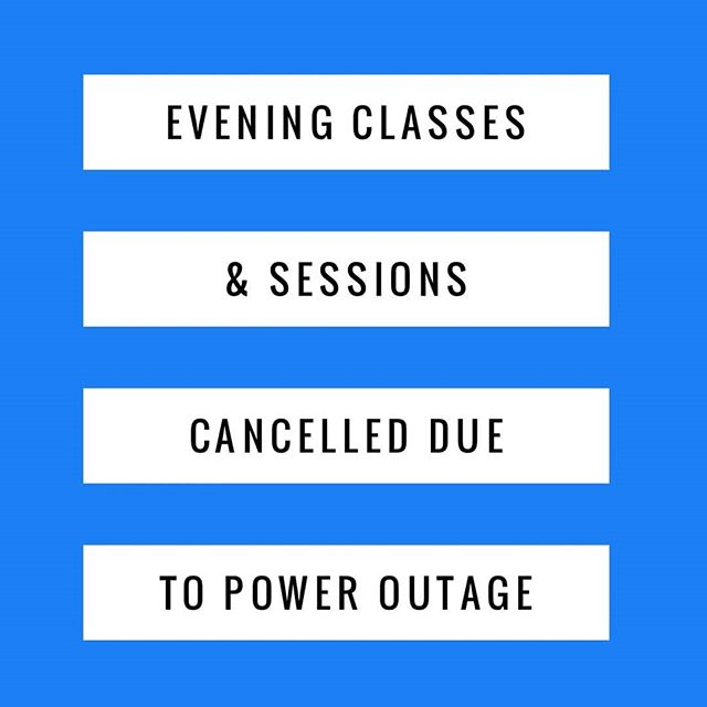 All classes and sessions have been cancelled due to power outage! Stay safe. Call us at 201.741.5692 for any questions or to reschedule.