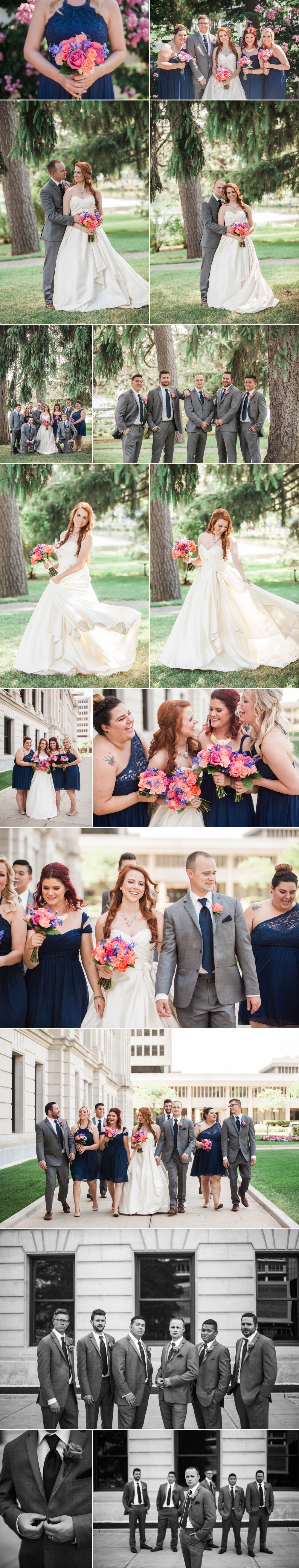 wedding-bride-groom-bouquet-portraits-park-roses-wedding party-3
