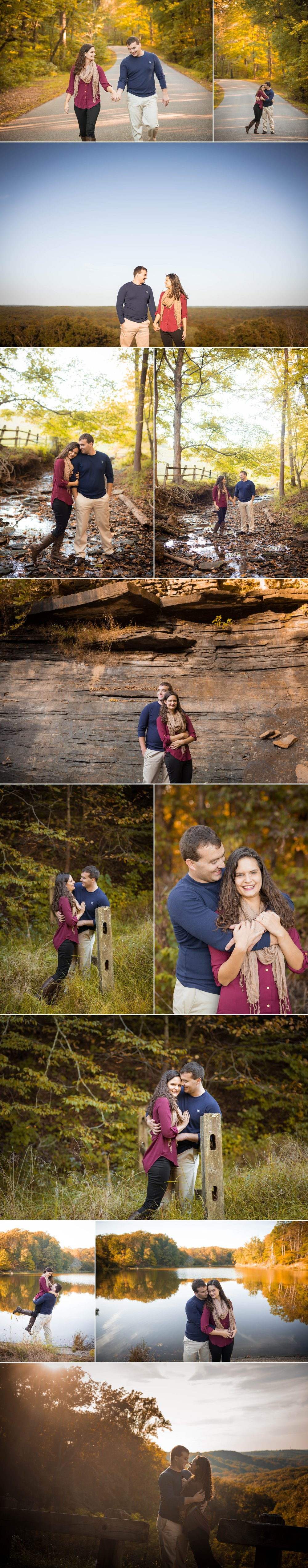 brown county-indiana-fort wayne-indianapolis-wedding photographer-engagement session-fall-couple-kiss-Nashville-Love