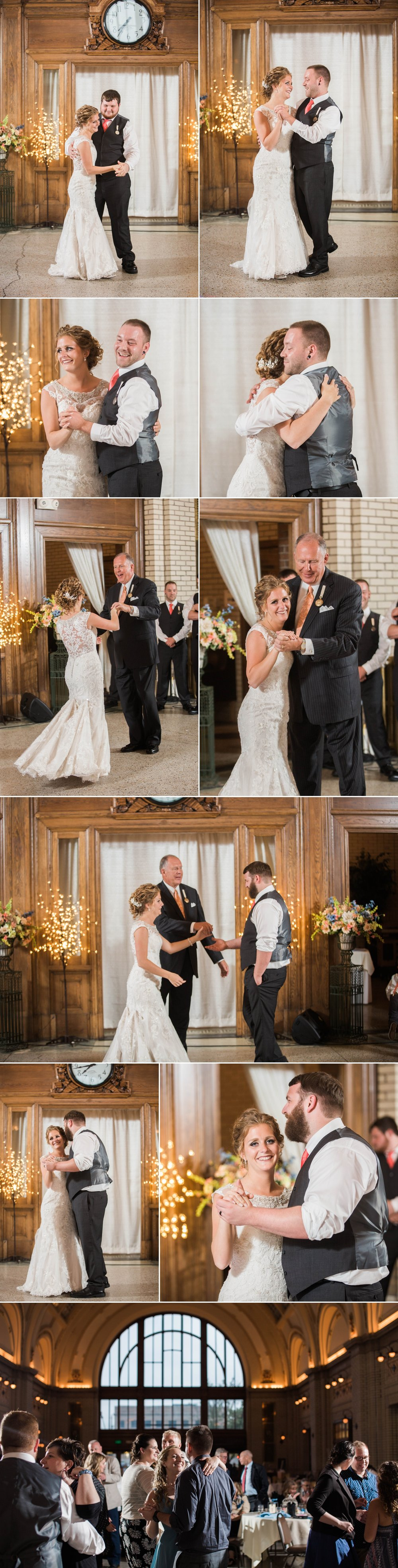 wedding - wedding day - reception - train station - bride - groom - dance