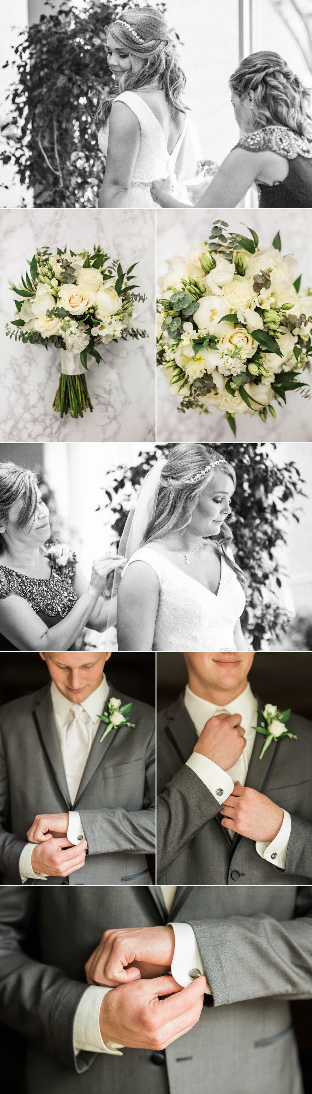wedding - ceremony - bride - fort wayne - indiana - groom - flowers - bouquet