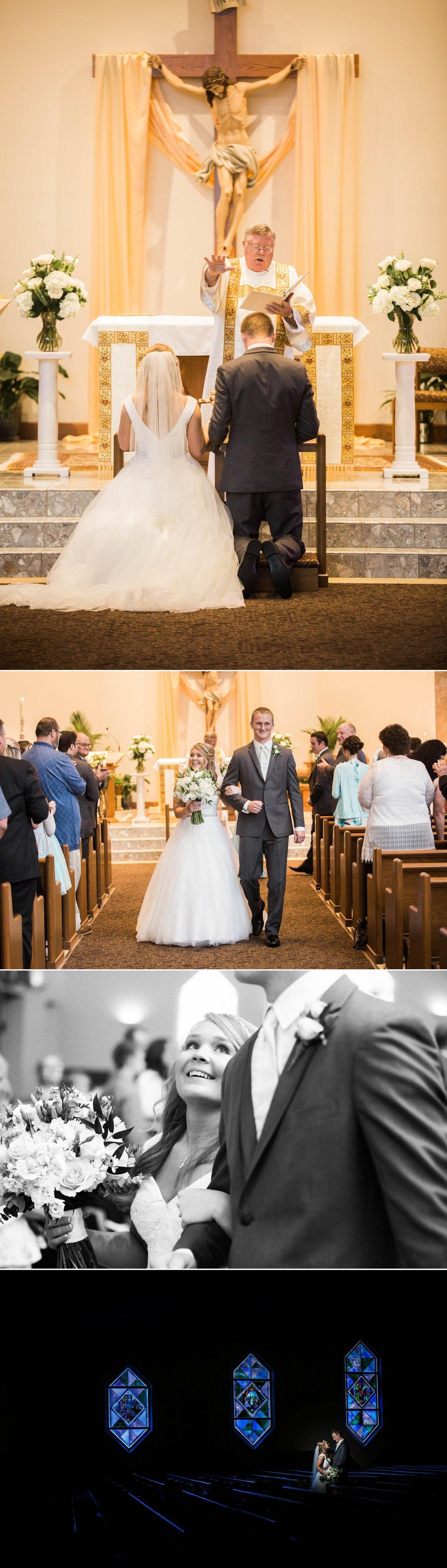 ceremony - wedding - church - bride - groom