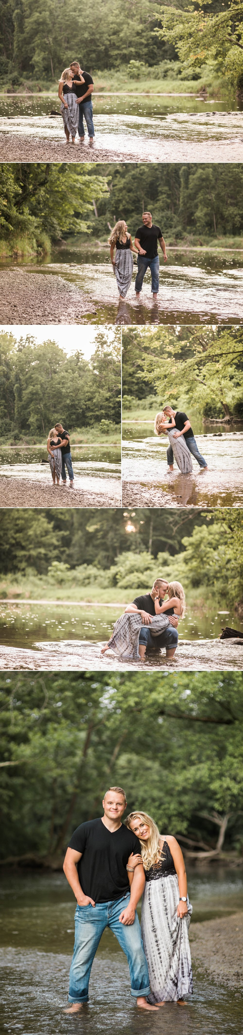 engagement session-field-summer-love-sunset-kiss-park-country-fort wayne-indiana-pond-river