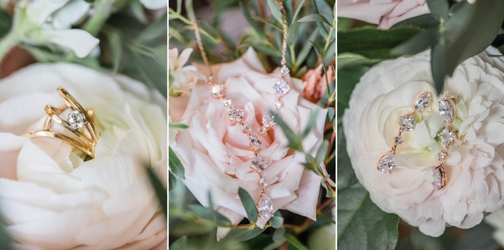 flowers jewelry  bridal details indiana wedding midwest crystal coop