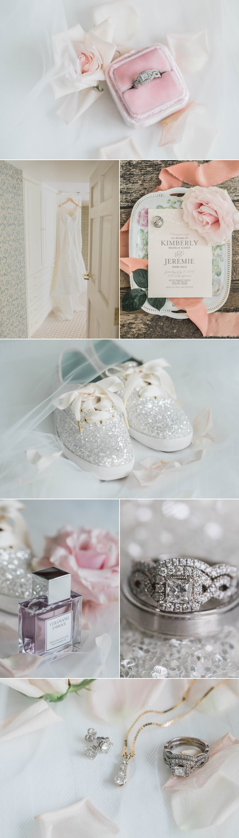 lake wawasee oakwood resort wedding indiana bride details jewelry