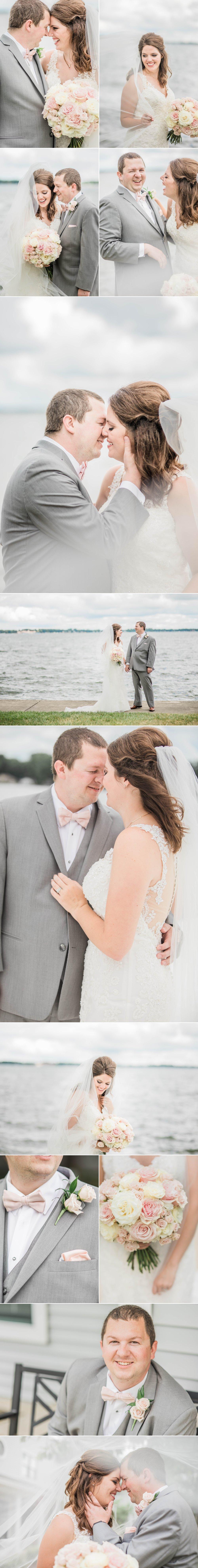lake wawasee oakwood resort wedding indiana bride groom portraits pier