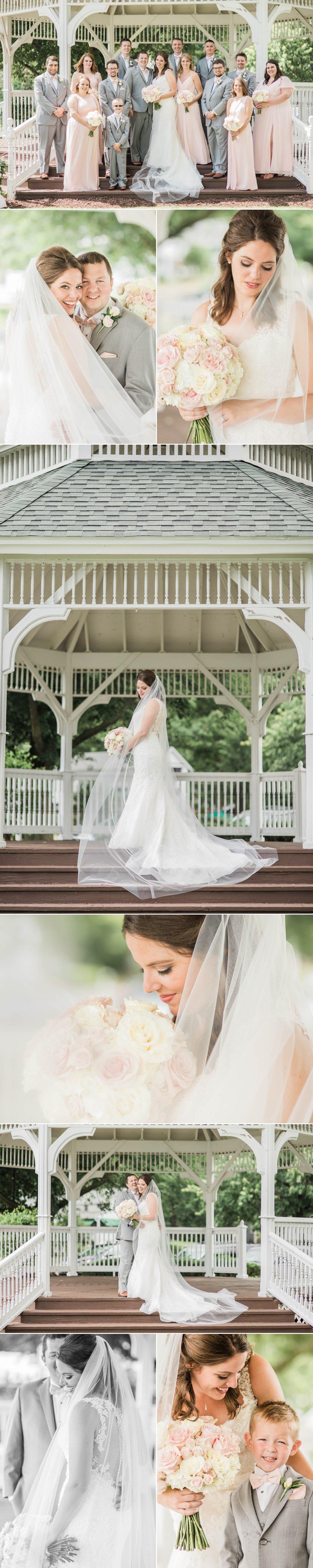 lake wawasee oakwood resort wedding indiana bride groom portraits wedding party