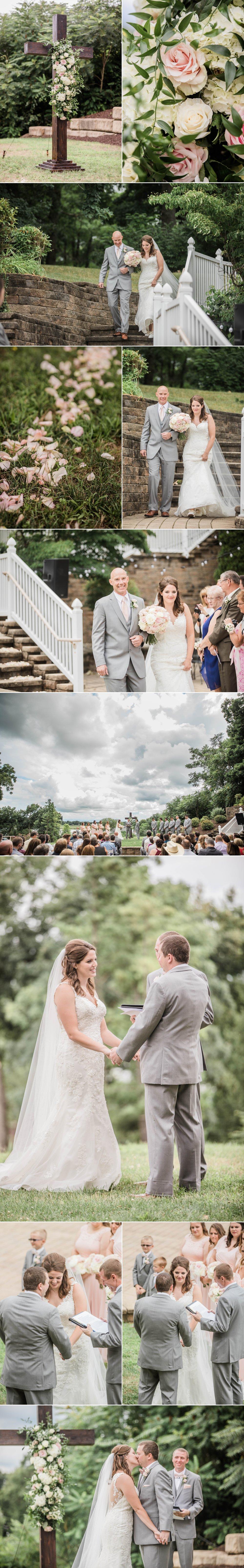 lake wawasee oakwood resort wedding indiana bride groom hilltop ceremony