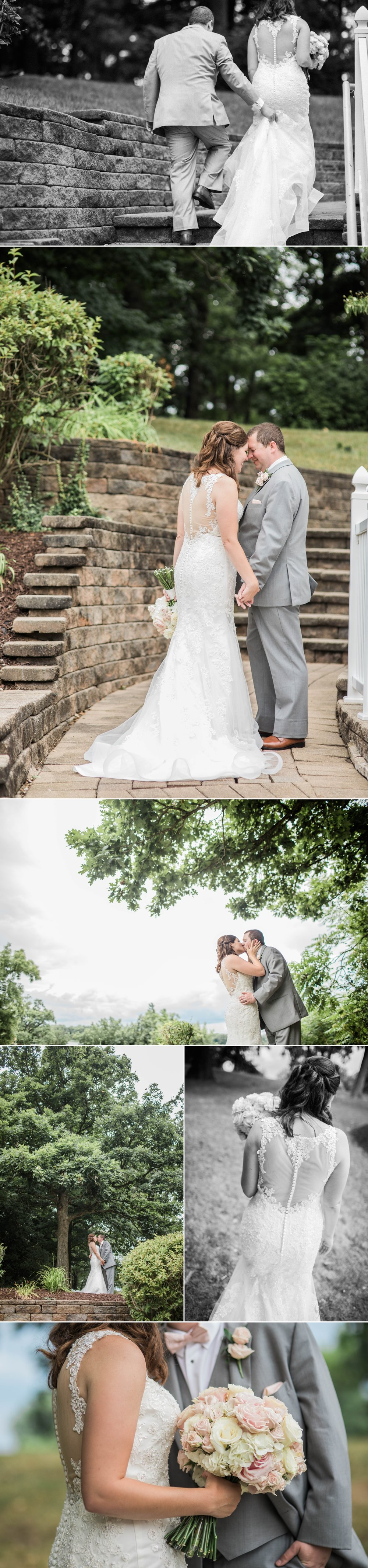 lake wawasee oakwood resort wedding indiana bride groom hilltop portraits