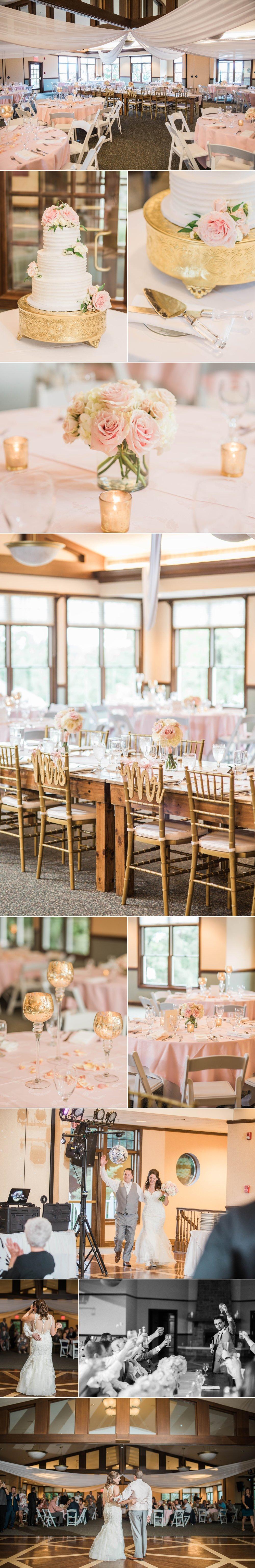 lake wawasee oakwood resort wedding indiana bride groom hilltop reception