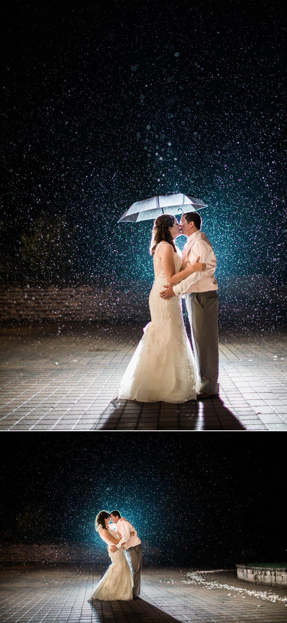 lake wawasee oakwood resort wedding indiana bride groom hilltop night rain portraits