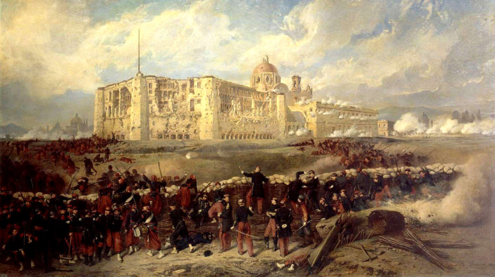 Siege de Puebla- Jean-Adolphe Beaucé (1818-1875)