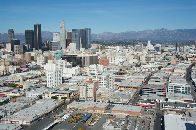 The Los Angeles Fashion District. Photo courtesy of fashiondistrict.org.