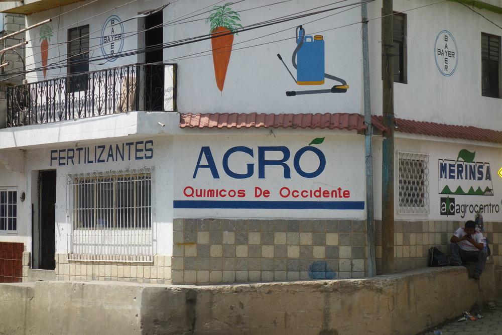 Tienda de fertilizantes, Almolonga.Créditos fotográficos: Lauren Heidbrink.
