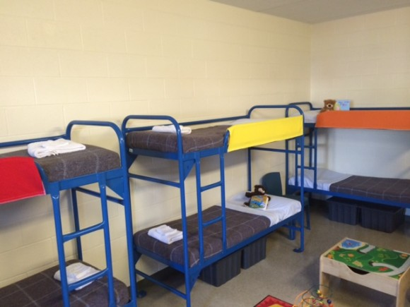 Bedroom in Karnes County Residential Center.   Source  .