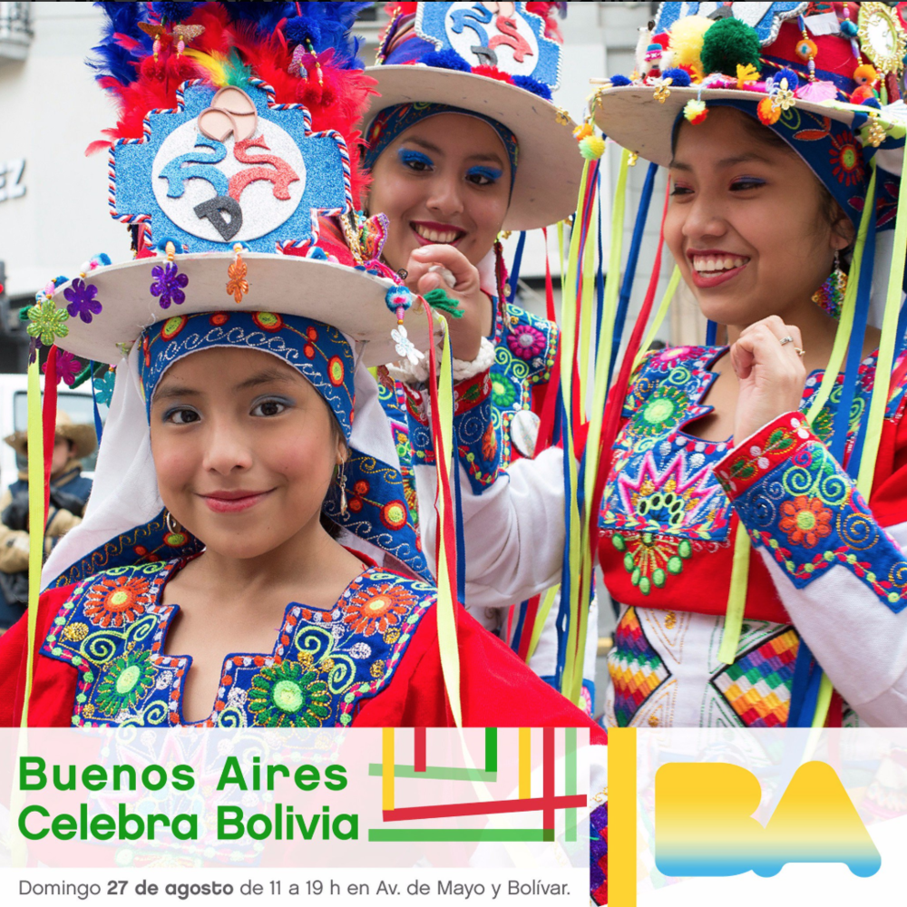 "Promotional material produced by City Government for Buenos Aires for ""Buenos Aires Celebra Bolivia.""  Source"