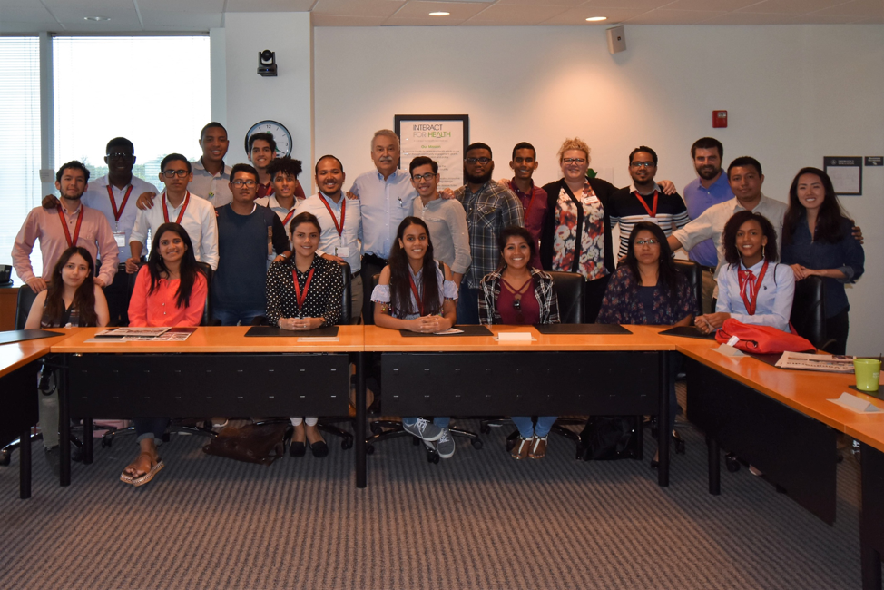SUSI 2018 Miami University cohort at the Hispanic Chamber of Commerce in Cincinnati, Ohio. Photo credit Ricardo Sosa.