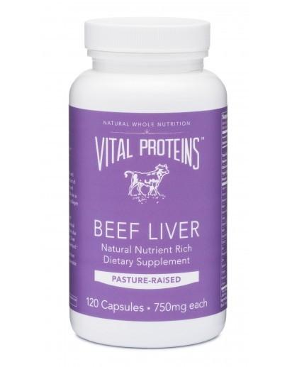 Beef Liver: Vital Proteins Pasture-Raised Beef Liver Tablets  Recommended by my functional nutritionist as a result of my blood labs. I take three of these daily.