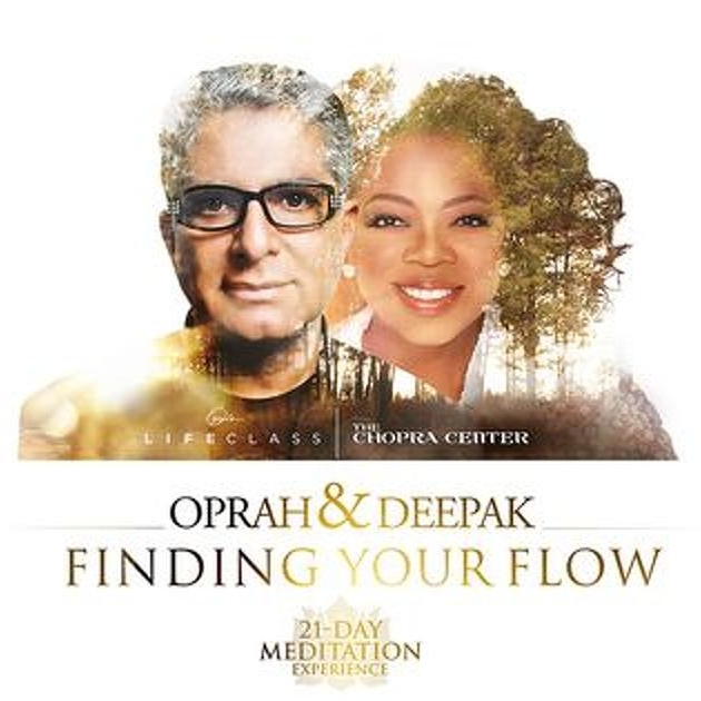 "Guided Meditations: Oprah and Deepak Chopra ""Finding Your Flow""   This was the first thing I used when I started meditating. These 20 minute guided meditations were incredibly helpful in, well, finding my flow. All of their guided meditations are great but this is the one I started with. They offer free 21-Day Challenges often so sign up for their emails so you don't miss them."