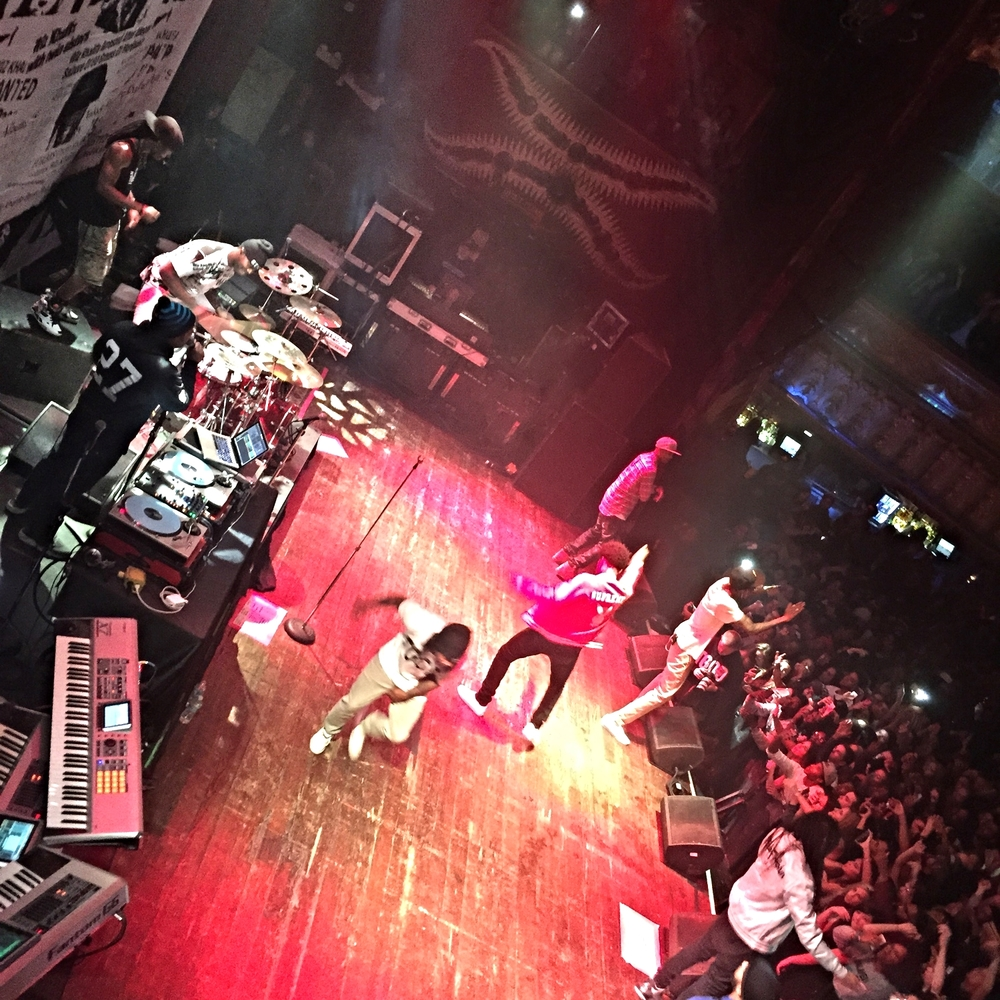 Brandon Glova a.k.a. DJ Bonics, left, on tour with Wiz Khalifa, House of Blues, Chicago