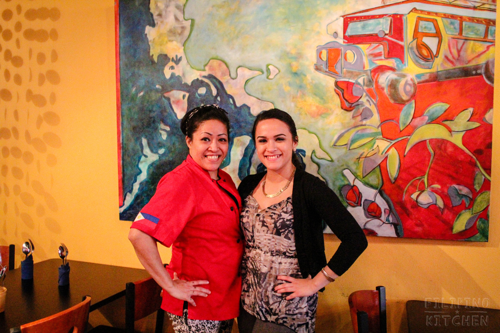 Chef Cristina and her daughter and service manager, Hailey, at Milkfish, December 2014.