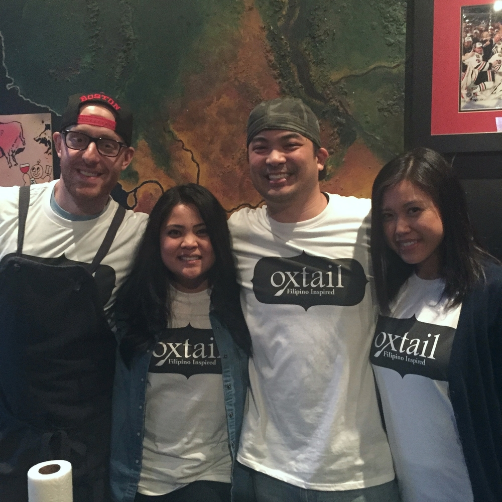 Team Oxtail: Chef Ben Sussman, Rachel Sussman, Rampelle Aguilar and Heather Aguilar.