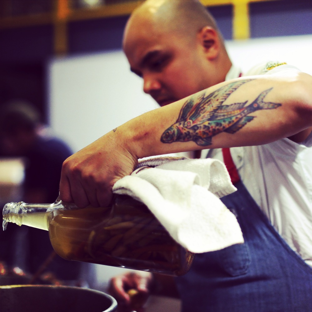 Chef Tom Cunanan at Bad Saint's Merienda Pop-up, Dolcezza Gelato, Washington DC, November 9, 2014. Photo credit: Bad Saint