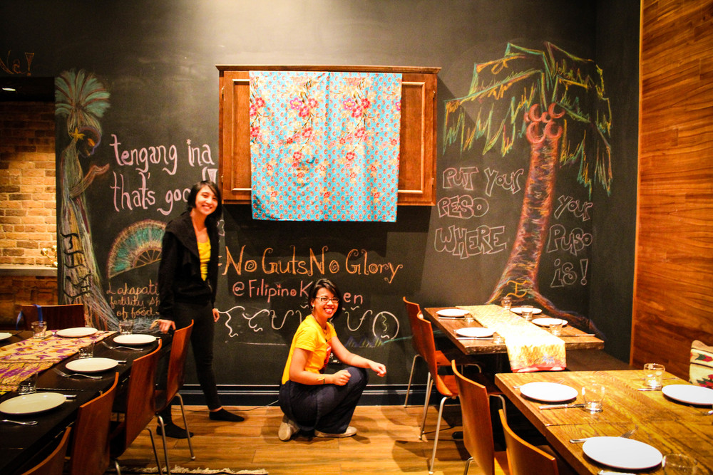 Even with her humor, Stephanie imbues Filipino sensibilities into a space. For our No Guts No Glory offal-centric popup dinner last January in Chicago, Stephanie's (in)famous puns graced the chalkboard walls.