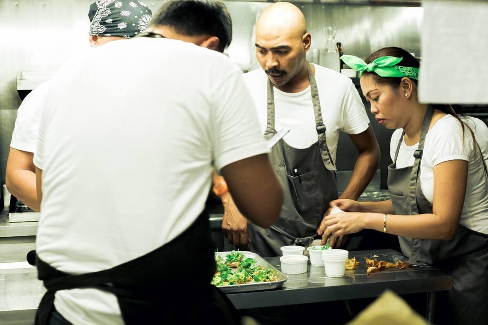 Plato chefs mid-service, January 2015. Via  Plato CdeO's Facebook page .