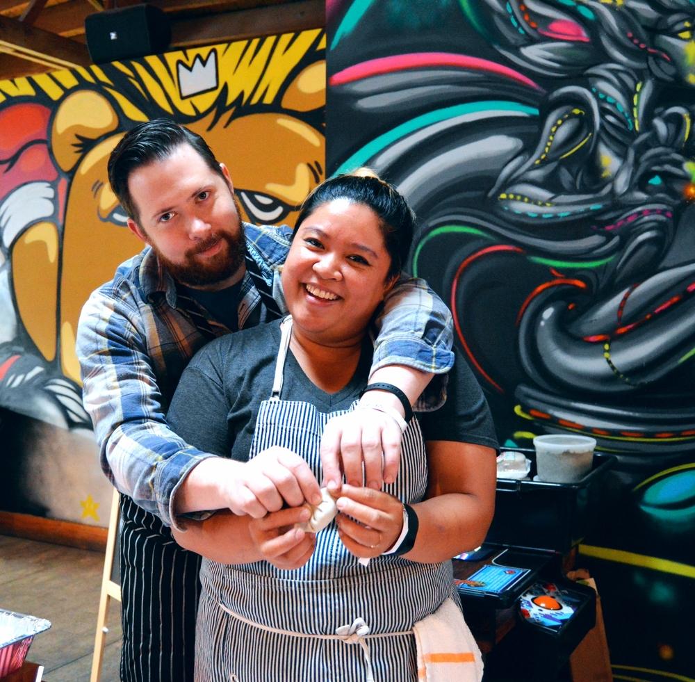 Chef Chrissy Camba with Chef Ashlee Aubin of Wood and Salero