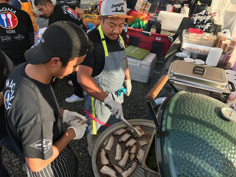 Chefs Carlo Lamagna & Dante Fernandez at Feast Portland Night Market 2017.jpg