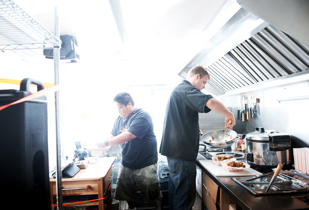 "JOEL CRESPO/BRIAN HARDESTY:  GUERRILLA STREET FOOD  ST. LOUIS, MISSOURI  Facebook:  Guerrilla Street Food  Twitter:  @guerrillastreet  Instagram:  @guerillastreet   Guerrilla Street Food offers a new chapter to the storied food culture of the Philippines. With unassuming food truck beginnings, Guerrilla Street Food now operates two restaurants in St. Louis, serving inventive Filipino and Filipino-inspired food. The casual and affordable concept begins with founders Brian Hardesty and Joel Crespo. While working at former fine dining restaurant, Terrene, the chef (Brian) and his always intrigued patron (Joel) shared an appetite for culinary exploration. Discussions evolved from workshopping new dishes to opening their own restaurant that served the food that they both liked to eat. ""Guerrilla Street Food is the extension of a conversation that we've been having for years,"" explains Joel."